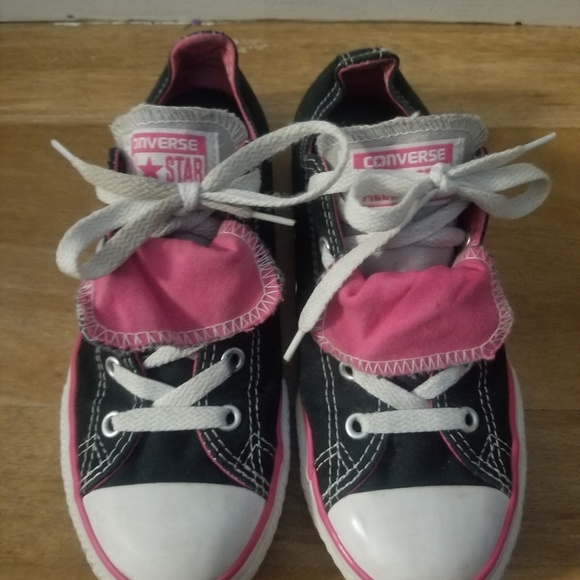 Girl's Size 3 Double Tongue Converse